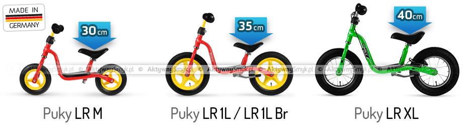 Rowerki biegowe Puky LR porównanie